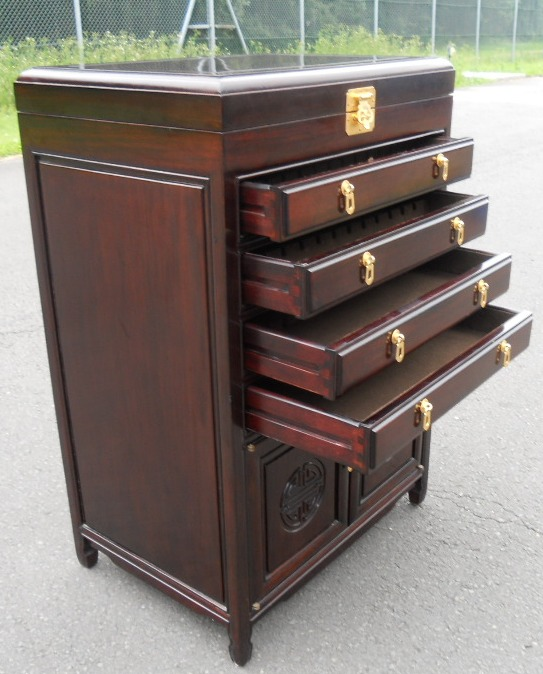 Oriental Cutlery Cabinet Chest of Drawers
